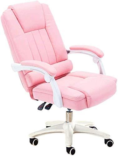 WANGXIAOYUE Spielstuhl Racing Computer Bürostuhl sesshafte Chefstuhl 145 ° Reclinable Design Einteilige Armlehne Kniestuhl (Color : Pink)