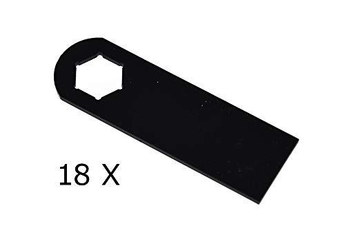 18 X Vertikutierer Messer für KYNAST 15 E - 405-406, 35 V - 405-406/00.1857.38, 110.000.369, 74-0825A, 110.004.066