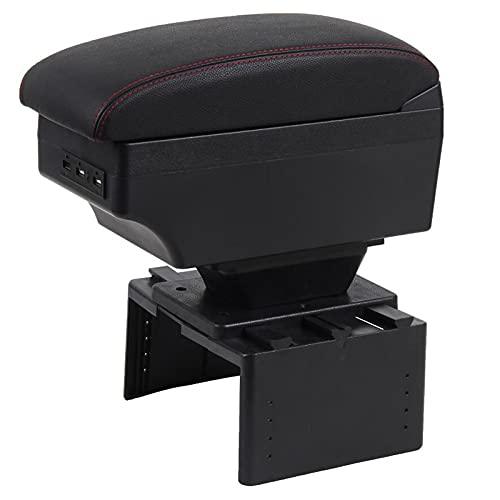Rtyuiop Caja de reposabrazos, para Audi 80100200 A4 A3 A2 v1 Caja de Almacenamiento de Consola Central Accesorios de decoración de Estilo de Coche