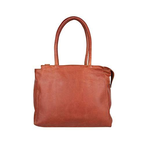 Cowboysbag lederen tas laptoptas laptop tas Evi 15.6 inch cognac bruin 2218