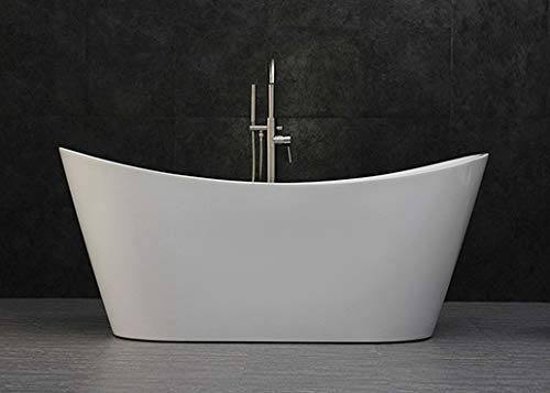 Buy Cheap WOODBRIDGE B-0015 Acrylic Freestanding Bathtub Contemporary Soaking Tub with Brushed Nicke...