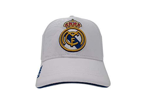 Gorra Real Madrid junior blanco primer equipo escudo Colores Originales - Producto bajo licencia