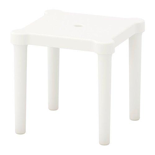 Ikea 3 Paquetes Taburete Infantil, Interior/Exterior, Blanco