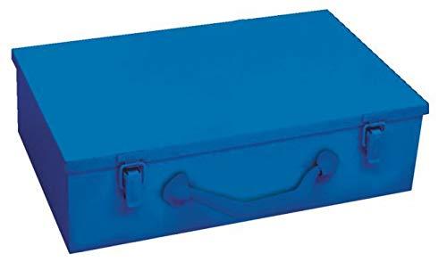 Multifunctionele koffer van metaal, grootte Maxi | Opbergen van gereedschappen, andere spullen en persoonlijke producten | Afmetingen: 440 x 330 x 100 mm