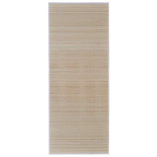 vidaXL Alfombra de Bambú 100x160cm Natural Moqueta Decoración Casa y Hogar