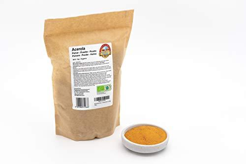 Bio Acerola Pulver – 1kg – 25 % natürliches Vitamin C – Ohne Zusätze