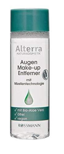 Augen Make-up Entferner - Mit Mizellentechnologie - Naturkosmetik - Mit Bio Aloe Vera - Ölfrei - Für wasserlösliches Make-up - 100 ml