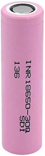 Inr 18650 30q Li-Ion batería 3.7v 3000mah batería de litio recargable para linterna led luz 2pcs-1pcs