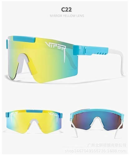 VIPBQO Pit Viper Gafas de sol polarizadas UV400 para hombres y mujeres, gafas de sol de béisbol, pesca, golf (C22)