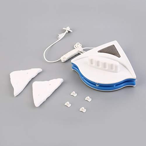 Delicacydex Fenêtre magnétique de Nettoyeur de vitres réglable et à Double Face réglable pour Outils de Nettoyage de vitres Creuses à Double Couche de 15-22mm - Blanc