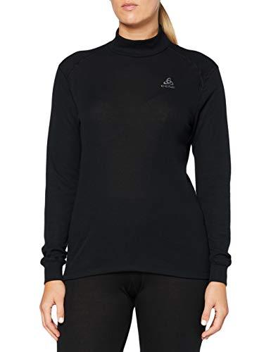 Odlo BL Top Turtle Neck l/s Active Warm Haut Femme, Black, Taille Fabricant : XL