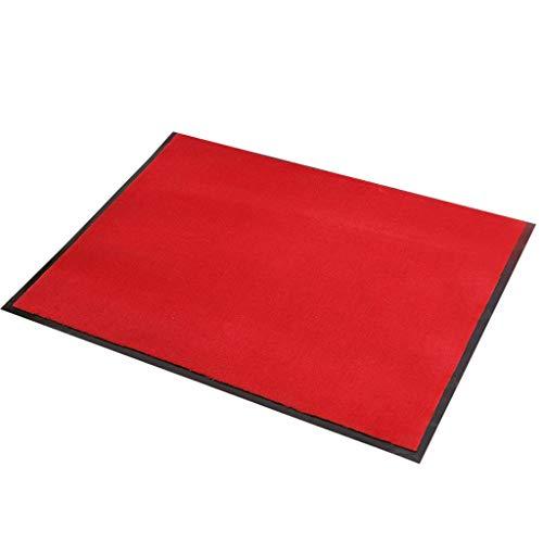 LIMING-tapijt, vuilvangmat, deurmat, deurmat, deurmat, schoonloopmat, vuilafstotend, deurmat voor binnen en buiten, groot rood