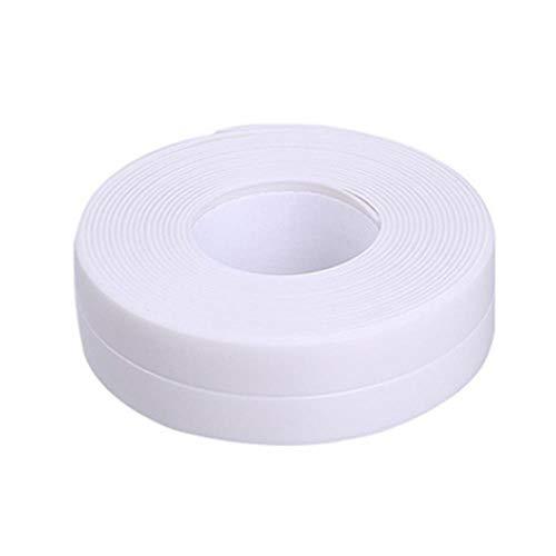Nieuwe 3.2mx22mm 38mm Badkamer Douchebak Bad Afdichtstrip Tape Wit Zelfklevende Waterdichte Muursticker voor Badkamer Keuken, 7 wit 22mm, Russische Federatie