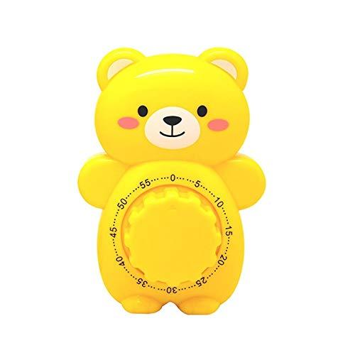 Messer-Gabel-Chef Küchenzubehör 60 Minuten Kunststoff Küchen-Timer Mechanische Countdown Dial Alarm Kochen Werkzeuge (Color : Yellow)