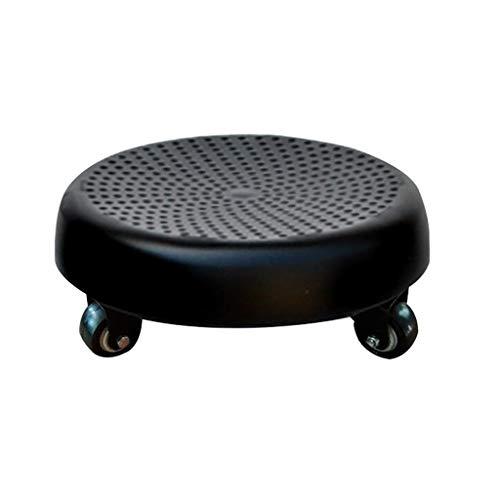 QFdd Sgabello Basso in Plastica con Ruote,Mini Piccolo Sedile da Lavoro,Flessibile Girevole per Bagno Cucina12 Cm 6 Colori