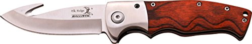 ELK RIDGE Couteau de Poche Hunter Bois Pakka, Longueur cm : 11,4 fermé, elkr de 1283