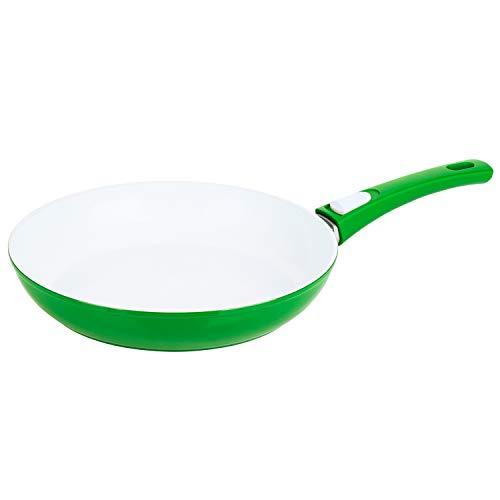 Genius Cerafit Antihaft-Pfanne Ø 24 cm | Bratpfanne für Fleisch, Fisch und Gemüse - dank Antihaftbeschichtung leicht zu reingen Farbe Grün