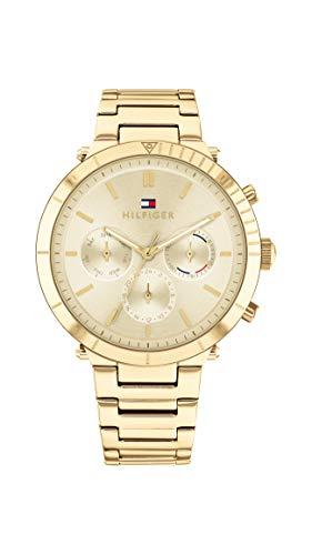 Tommy Hilfiger Damen Analog Quarz Uhr mit Edelstahl Armband 1782350