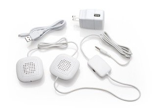 Sound Oasis Amplified Pillow Speakers with High Volume Stereo Sound and Inline Volume Control PA-100