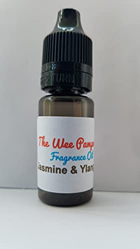 Jasmin Ylang Ylang - Aceite aromático para cera derretida, jabones, lociones corporales, 10 ml, aroma a velas, aroma