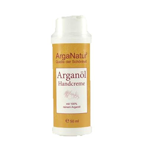 Crème pour les mains à l'huile d'argan biologique et à l'huile de pépins de figue de Barbarie ArgaNatur 50 ml ? Crème végétalienne 100% pure biologique