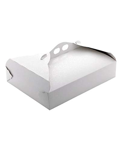 25 pz Porta Paste cm.17 x 24 x 5,5 Tortine per alimenti Scatola in Cartone Trasportare Dolci torte...