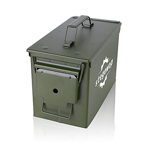 30 Caliber Steel Metal Ammo Case Can for Military Army Solid...