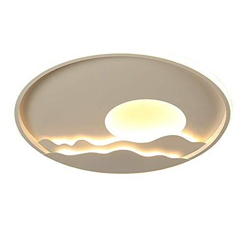 HLY Lámpara moderna simple, decoración circular de estilo europeo Dormitorio Sala de estar Montaje empotrado Luz de techo Pasillo Led Regulable 3000K-6000K Lámpara de techo minimalista moderna,50 cm