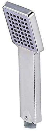 DZCGTP Cabezas de Ducha cuadradas Que ahorran Agua, Cabezales de Ducha de plástico de Gel de sílice Cromado ABS