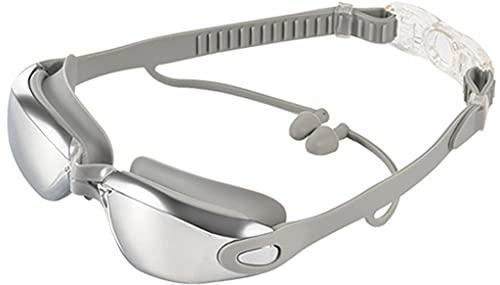 Dakecy Gafas de natación, Gafas de natación con Espejo Sin Fugas, protección contra Rayos UV, visión de 180 Grados, Gafas de natación, Tapones para los oídos para Adultos, Hombres, Mujeres y niños