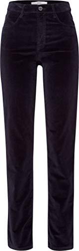 BRAX Damen Style Carola Samt Five Pocket Feminine Fit Sportiv Hose, Navy, W(Herstellergröße: 38L)
