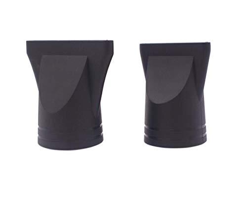 2PCS Negro Profesional Salón Plástico Secador de Pelo
