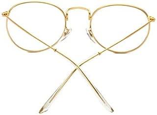 Full metal frame retro round flat mirror frame glasses c1