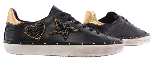 Rebecca Minkoff Chaussure Femme Sneakers 00MW NA02 Swarovski Nappa Black Noir - Noir, Cuir, 40, 7, 10