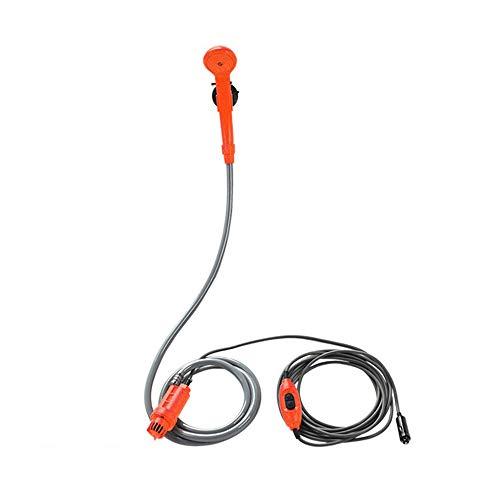 Lixada Ducha Acampada 12V Kit de Ducha Exterior Eléctrico para Viajes Lavado de Autos Senderismo Plantas con Flores Riego