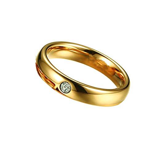 Goddesslili Diamond Rings for Women and Men Unisex, Classic Minimalist Design Vintage Retro Wedding Engagement Anniversary Luxury Gift, 2019