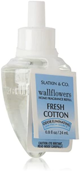 Bath Body Works Fresh Cotton Wallflowers Home Fragrance Refill