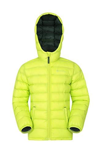 Mountain Warehouse Seasons Gepolsterte Jacke für Kinder, geeignet für alle Jahreszeiten - wasserdichte Winterjacke, leicht & warm Limette 98 (2-3 Jahre)