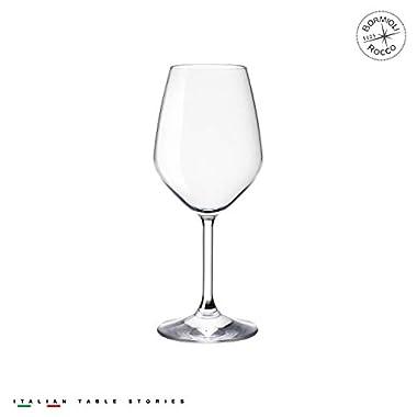 Bormioli Rocco Restaurant White Wine Glass, 15 oz,Set of 4
