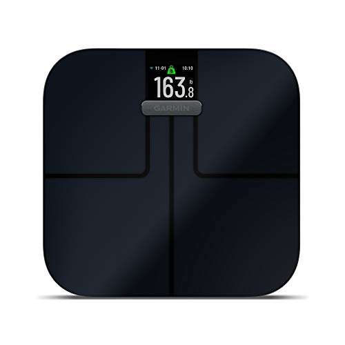 Garmin Index S2 - Báscula de baño Inteligente, Wi-Fi, Negra
