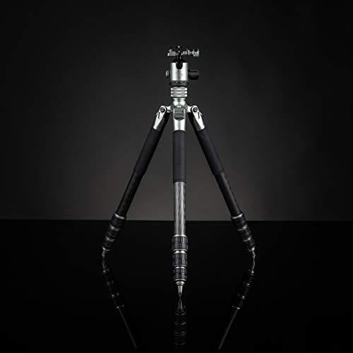 Rollei Lion Rock Traveler L I hochwertiges Carbon Reise-Stativ mit 20 KG Tragkraft inkl. Stativkopf und Spikes I Ideal für Reise und Naturfotografie mit Ihrer Spiegelreflex oder System-Kamera