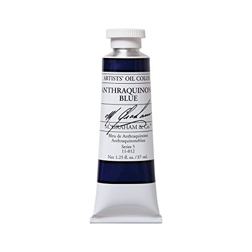 M. Graham Artist Oil Paint Anthraquinone Blue 1.25oz/37ml Tube