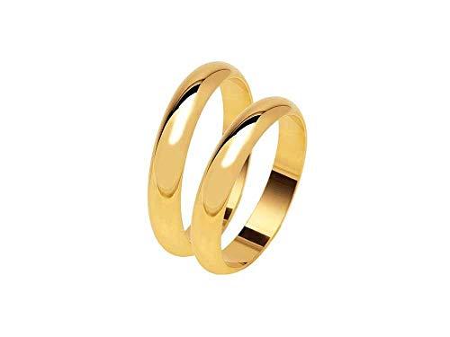 artesanal de Boda de 5gramos aprox. Color Oro de Plata 925Anillo de Matrimonio personalizado con TU nombre y fecha grabados en el Interior y tamaño de 10A 29de regalo llavero