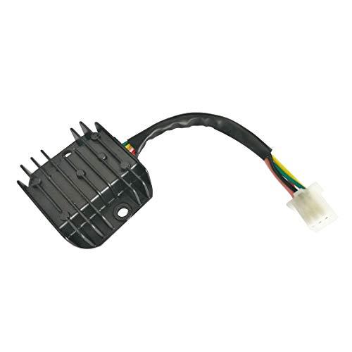 GOOFIT Rectificador regulador de 12 V, 5 cables, para motos de cross de 125 cc, 150 cc, 200 cc, 250 cc, ATV Go Kart