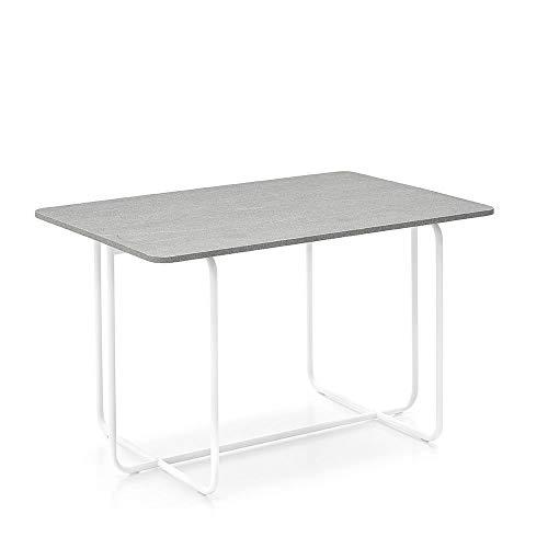 Mesa consola modelo DEE-J – Disponible en 3 variantes con tablero abatible de diseño plegable (blanco óptico mate y piedra piasentina)