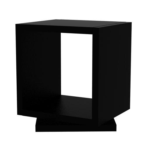 TemAhome avec Coque Rotative Pure Niveau 1 étagère Noir Mat, 40 x 34 x 39 cm, Noir