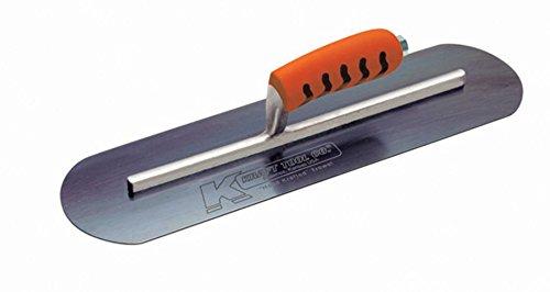 Kraft Tool CF746BPF Blue Steel Pool Trowel with ProForm Handle L-Shank, 24 x 5-Inch