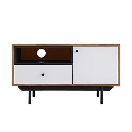 Wilsa – Mueble de TV de madera – Mueble de TV de diseño – Mueble de TV blanco – Longitud 90 cm