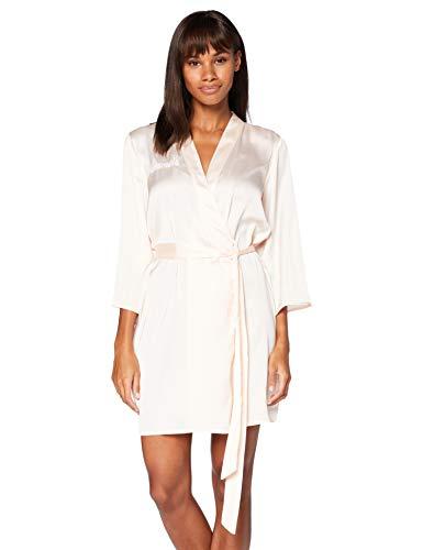Iris & Lilly Damen Kimono-Morgenmantel aus Baumwolle, Pink (Pink Bridesmaid), XS, Label: XS