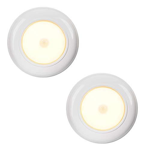 Luz LED de techo con sensor de movimiento para interiores con sensor de movimiento, luz nocturna LED, 180 lúmenes, lámpara de techo, plástico, Blanco cálido., 2 unidades